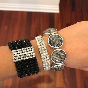 Jewelry - Lot Of 3 Beautiful sparkly stretch Bracelets..